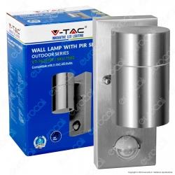 V-Tac VT-7621PIR Portalampada Wall Light da Muro per Lampadine GU10 con Sensore - SKU 7502