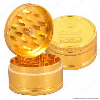 Grinder Tritatabacco 3 Parti in Metallo - Moneta d'Oro