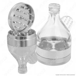 Grinder Tritatabacco 3 Parti in Metallo e Vetro - Fiaschetta