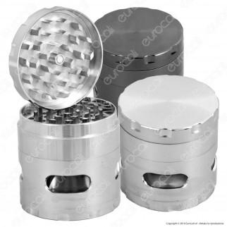 Grinder Tritatabacco 4 Parti in Metallo - con Finestre Ispezione