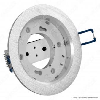 Kanlux VOLANTIO ESG O-SR Portafaretto Rotondo da Incasso per Lampadine GX53