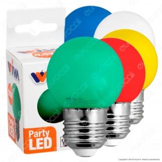 Wiva Lampadina LED E27 0,5W MiniGlobo G45 Colorata - mod. 12100362