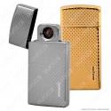 Silver Match Accendino USB in Metallo Luxury Antivento Ricaricabile - 1 Accendino