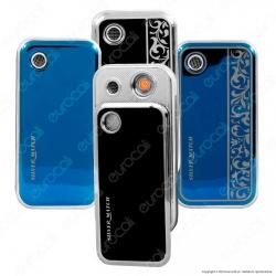 Silver Match Accendino USB in Metallo Antivento Ricaricabile con Attivazione a Soffio - 1 Accendino