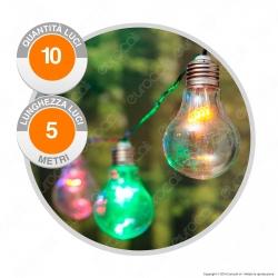 Catena Party 10 Lampadine LED Multicolor THL 24V - per Interno e Esterno