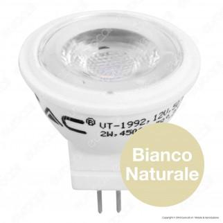 V-Tac VT-1992 Lampadina LED GU4 2W Mini Faretto MR11 12V - SKU 1679 / 1680 / 1681