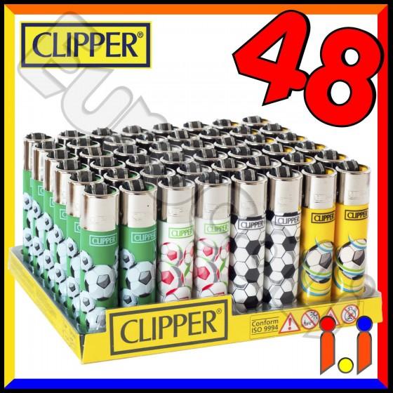 Clipper Large Fantasia Sport Palloni - Box da 48 Accendini C16