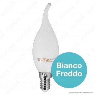 V-Tac VT-1927 Lampadina LED E14 4W Candela Fiamma White Filamento - SKU 7104