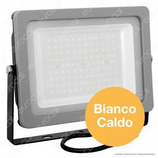 V-Tac VT-49100 Faretto LED SMD Ultrasottile 100W da Esterno Colore Grigio - SKU 5847