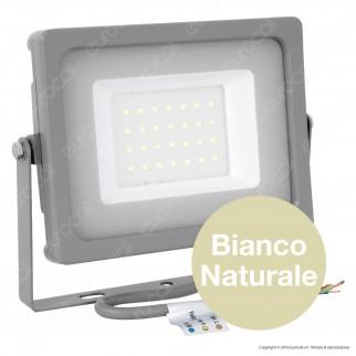 V-Tac VT-4933 Faretto LED SMD 30W Ultra Sottile da Esterno Colore Grigio - SKU 5816 / 5817 / 5818