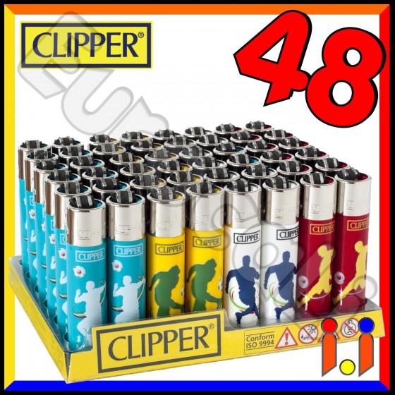Clipper Large Fantasia Sport Calcio - Box da 48 Accendini C12