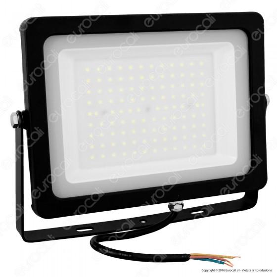 V-Tac VT-49100 Faretto LED SMD 100W Ultrasottile da Esterno Colore Nero - SKU 5849 / 5851