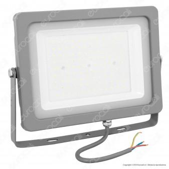 V-Tac VT-49100 Faretto LED SMD 100W Ultrasottile da Esterno Colore Grigio - SKU 5853 / 5854