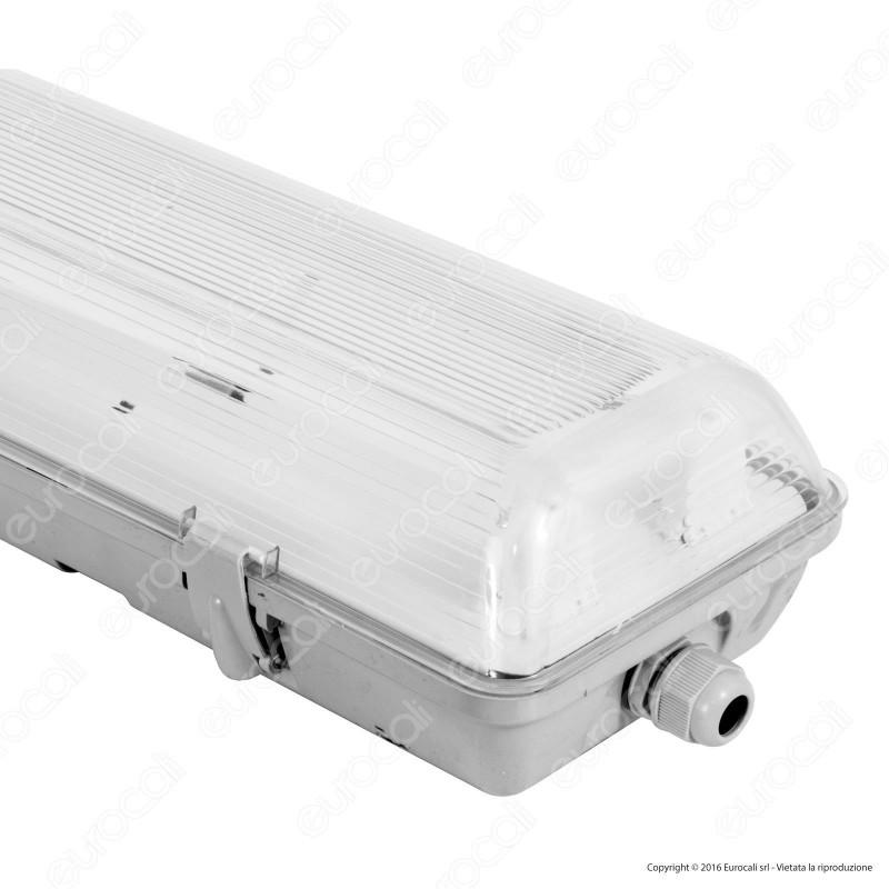 Life Plafoniera Singola Impermeabile per Tubi LED T8 da 60cm