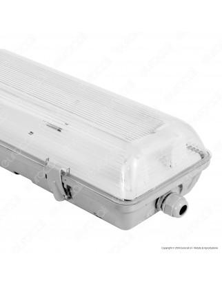 Life Plafoniera Doppia Impermeabile per 2 Tubi LED T8 da 120cm