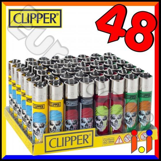 Clipper Large Fantasia Skull - Box da 48 Accendini C09