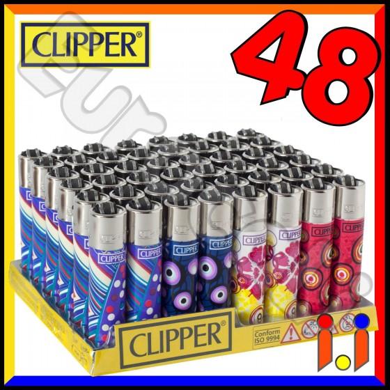 Clipper Large Fantasia Style - Box da 48 Accendini