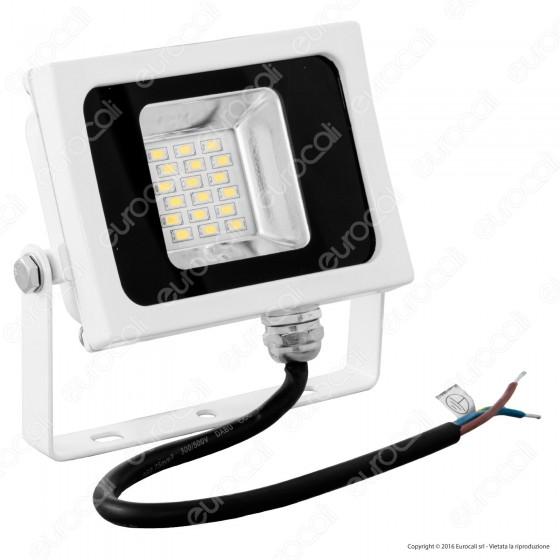 V-Tac VT-4810 Faretto LED SMD 10W Ultra Sottile da Esterno Colore Bianco - SKU 5733