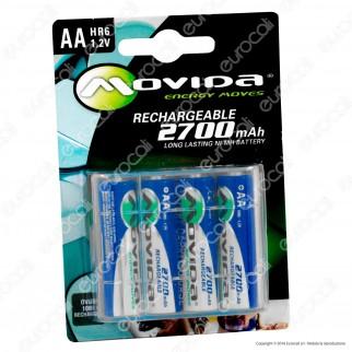 Movida 2700mAh Pile Ricaricabili Stilo AA - Blister 4 Batterie