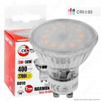 Century Harmony 95 Lampadina LED GU10 5W Faretto Spotlight 110° CRI ≥95 - mod. HRK110-051027