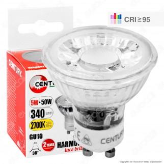 Century Harmony 95 Lampadina LED GU10 5W Faretto Spotlight 38° CRI ≥95