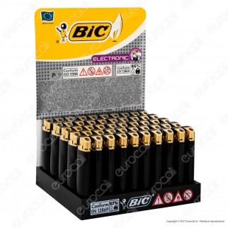 Bic Maxi J38 Elettronico Grande Nero e Oro - Box da 50 Accendini