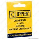 Clipper Pietrina Universale per Accendini Micro e Large - Astuccio da 9 Pietrine