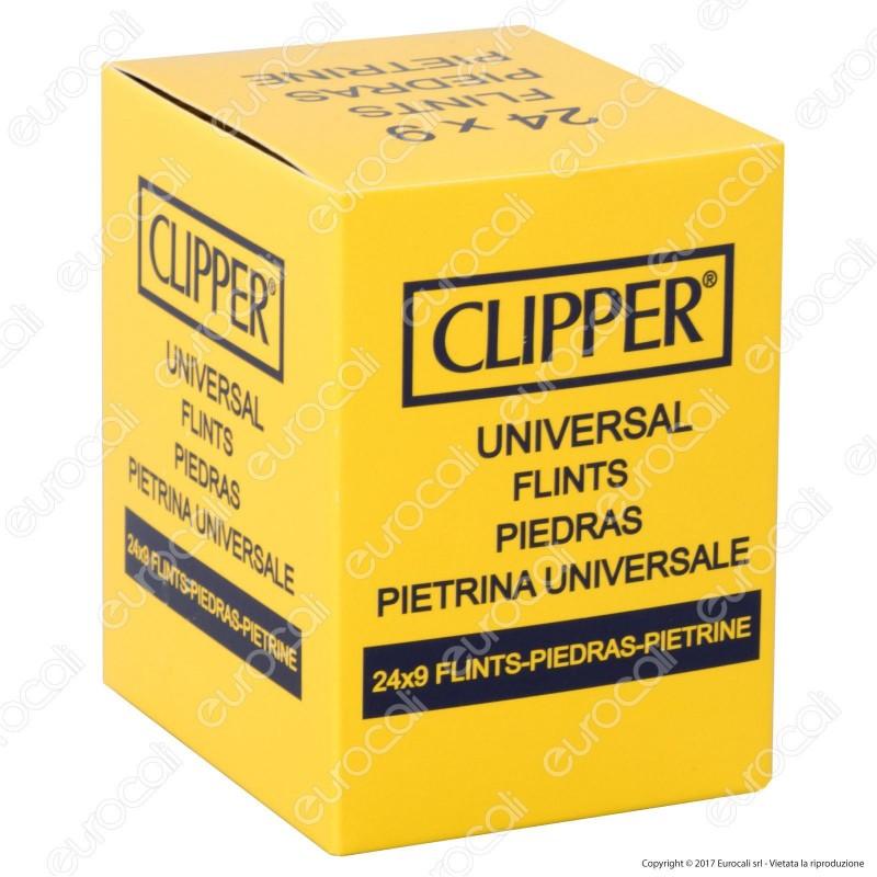 Clipper Pietrina Universale per Accendini Micro e Large - 24 Astucci da 9 Pietrine