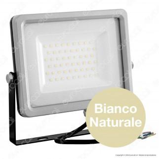 V-Tac VT-4955 Faretto LED SMD 50W Ultra Sottile da Esterno Colore Grigio e Nero - SKU 5830