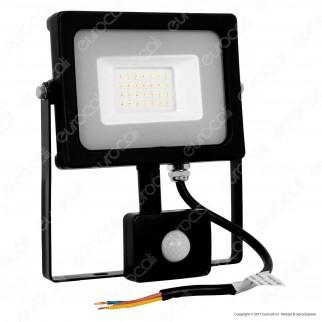 V-Tac VT-4922 Faretto LED 20W Ultra Sottile Slim con Sensore Colore Nero - SKU 5801 / 5803