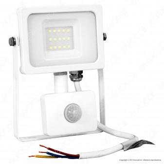 V-Tac VT-4911 Faretto LED 10W Ultra Sottile Slim con Sensore Colore Bianco - SKU 5788