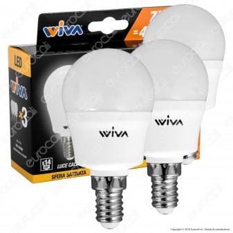 Wiva Tripack Lampadina LED E14 7W MiniGlobo P45 - Confezione 3 Lampadine - mod. 12101001 / 12101005 / 12101009