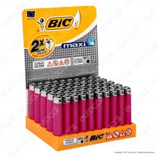 Bic Maxi J26 Grande Monocromo Colore Fucsia - Box di 50 Accendini
