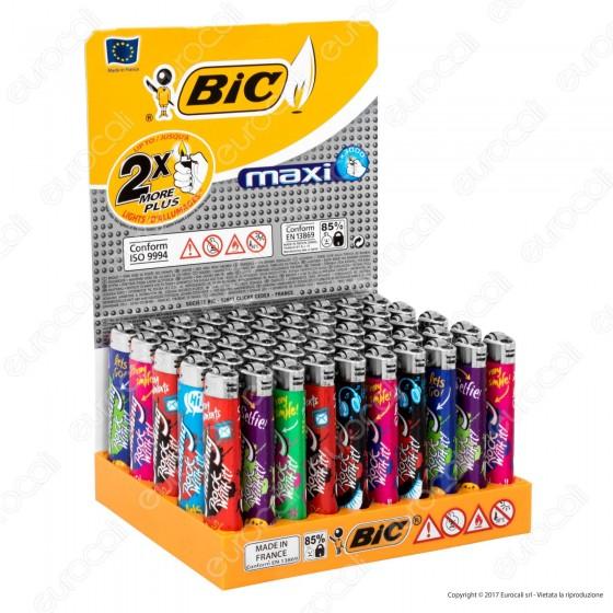 Bic Maxi J26 Grande Fantasia Smoking Rock With It! - Box Da 50 Accendini
