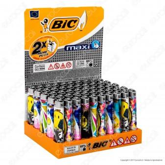 Bic Maxi J26 Grande Fantasia Smiley 2 - Box Da 50 Accendini