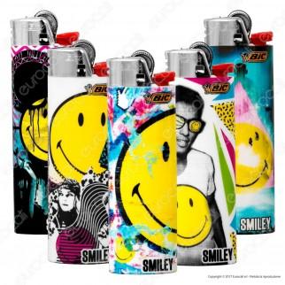 Bic Maxi J26 Grande Fantasia Smiley 2 - 5 Accendini