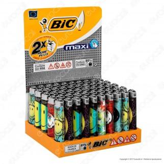 Bic Maxi J26 Grande Fantasia Smiley 1 - Box Da 50 Accendini