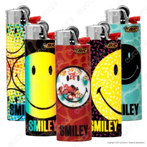 Bic Maxi J26 Grande Fantasia Smiley 1 - 5 Accendini