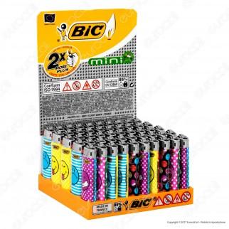 Bic Mini J25 Piccolo Fantasia Smiley 4 - Box da 50 Accendini