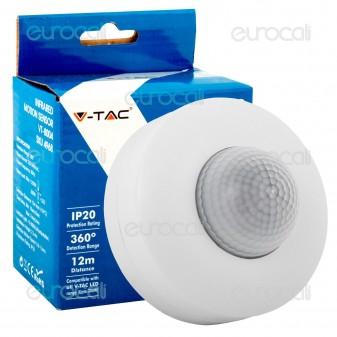V-Tac VT-8004 Sensore di Movimento a Infrarossi per Lampadine - SKU 4968