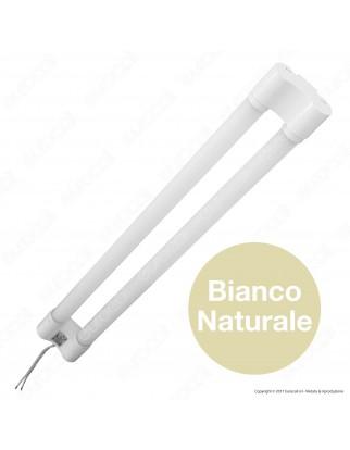 V-Tac VT-6077 Tubo LED Doppio Nano Plastic Plafoniera 18W Lampadina 120cm - SKU 6313 / 6314