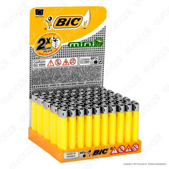 Bic Mini J25 Piccolo Monocromo Colore Giallo - Box di 50 Accendini