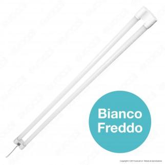 V-Tac VT-12077 Tubo LED Doppio Nano Plastic Plafoniera 36W Lampadina 120cm - SKU 6315 / 6316