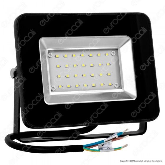 V-Tac VT-4621 I-Series Faretto LED SMD 20W Ultra Sottile da Esterno Colore Nero - SKU 5880
