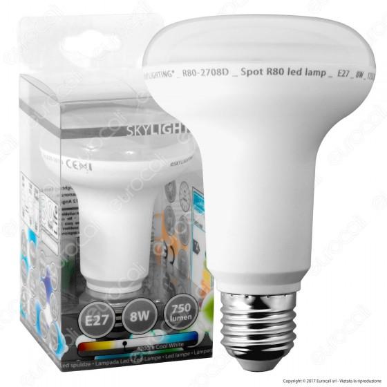 SkyLighting Lampadina LED E27 8W Bulb Reflector Spot R80
