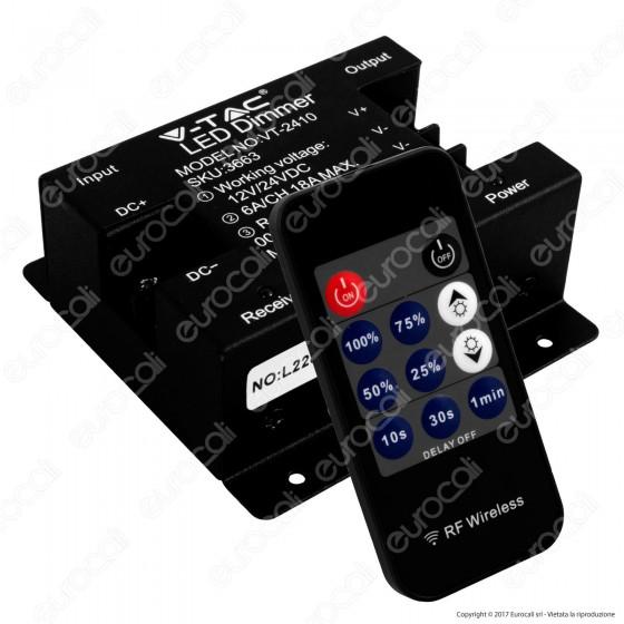 V-Tac VT-2410 Controller Dimmer per Strisce LED con Telecomando - SKU 3663