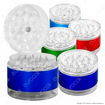 Grinder Tritatabacco 4 Parti in Plastica e Metallo