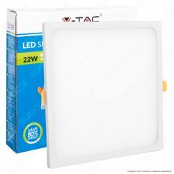 V-Tac VT-2222 SQ Pannello LED Quadrato 22W SMD da Incasso con Driver - SKU 4949 / 4950 / 4951