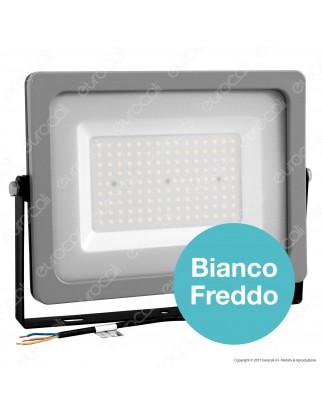 V-Tac VT-49150 Faretto LED SMD Ultrasottile 150W da Esterno Colore Grigio Nero - SKU 5858