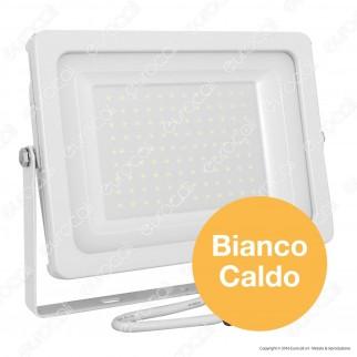 V-Tac VT-49100 Faretto LED SMD 100W Ultrasottile da Esterno Colore Bianco - SKU 5844 / 5845